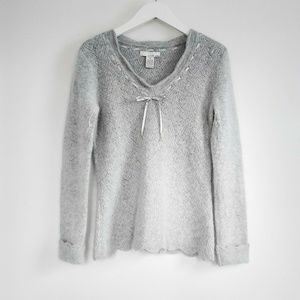 Sweaters - Lucy & Laurel Soft Gray Angora Blend Knit Sweater